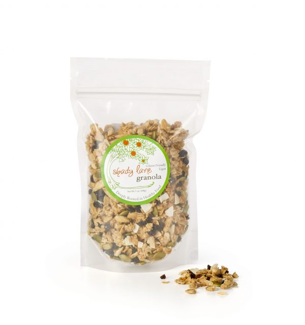 Granola by shady lane foods is rich in antioxidants and healthy fats- heart healthy - order a heart healthy low sodium gift basket online today