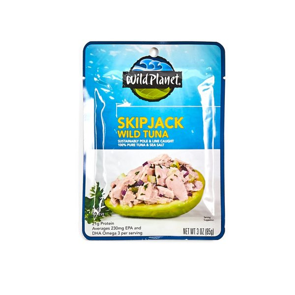 Skipjack tuna from wildplanet tuna is a low mercery tuna appropriate for pregnant women to eat - order a breastfeeding box online today