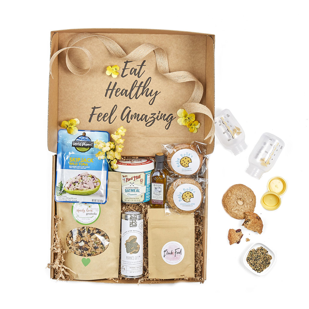 Breastfeeding subscription box - healthy breastfeeding snacks - lactogenic foods - order breastfeeding gift basket online today