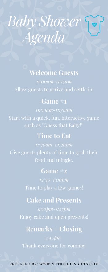 Free Baby Shower Agenda for new moms to have a seamless baby shower