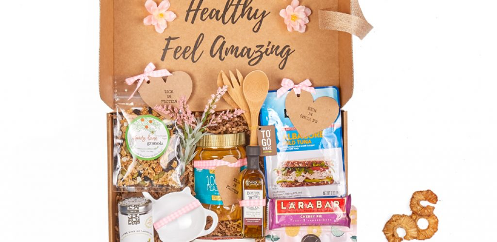 Cancer care gift basket with healthy snacks for chemo mouth - high protein foods - order a gift basket online today
